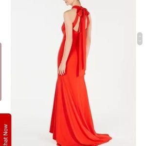 Calvin Klein Tao red gown